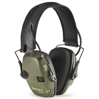 HoneyWell Howard Leight Impact Sport Sound Amplification Electronic Earmuff, Hunter Green - R-01526