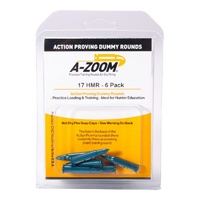 Pachmayr A-Zoom Metal Snap Caps 17 HMR Action Proving Rounds - 6 Pack