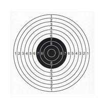 Practice Paper Target 14x14cm White Cardboard 10 Sheets for Training Hunting Shooting - 61700