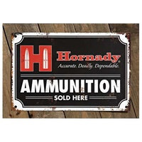 "Hornady Decorative Vintage ""Ammo Sold Here"" Tin Sign # 99118"