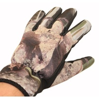 Max-Hunter Koorangie Camo Neoprene Gloves One Size Fits Most - GLOVES-002