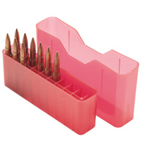 MTM Slip-Top Rifle Ammo Box - 20 Round for SAUM, RCM, 45-70 Red J20-MLD-29