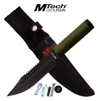 M-Tech MTech Green Handle Survival Knife Tactical & Military - MT-20-68GN