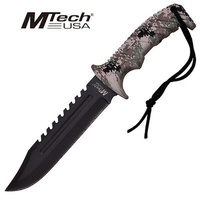 M-Tech USA Camo Fixed Blade Knife Tactical & Military - MT-20-57CA
