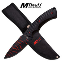 M-Tech USA Red Stripe Fixed Blade Knife Tactical & Military - MT-20-64BR