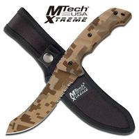 M-Tech USA XTREME Desert Camo Fixed Blade Knife Tactical & Military - MX-8073D