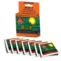 Outback Series 2-in-1 SPF30+ Sunscreen/Insect Repellant Sachets - OBS000770