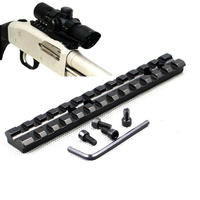 "Patrol Tactical 5.5"" Weaver Picatinny 20mm Rail Scope Mount 13 Slots for Rifle Shotgun"