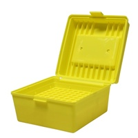Max-Comp Deluxe Flip-Top Ammo Box with Handle 100 Round 22-250, 308, 30-06 - Yellow PTAB007