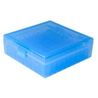Berry's Pistol Ammo Box 100rd Flip-Top 44 Mag 45 Colt - Blue - SBE007
