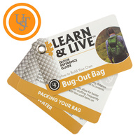 Ultimate Survival UST Live & Learn Bug Out Bag Reference Cards - U-02748