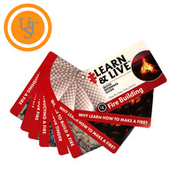 Ultimate Survival UST Live & Learn Fire Building Uses Reference Cards U-80-1035